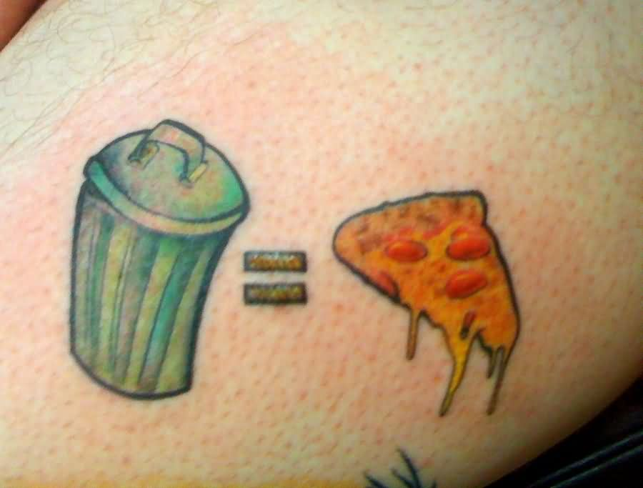 Pizza Equals To Pizza Tattoo