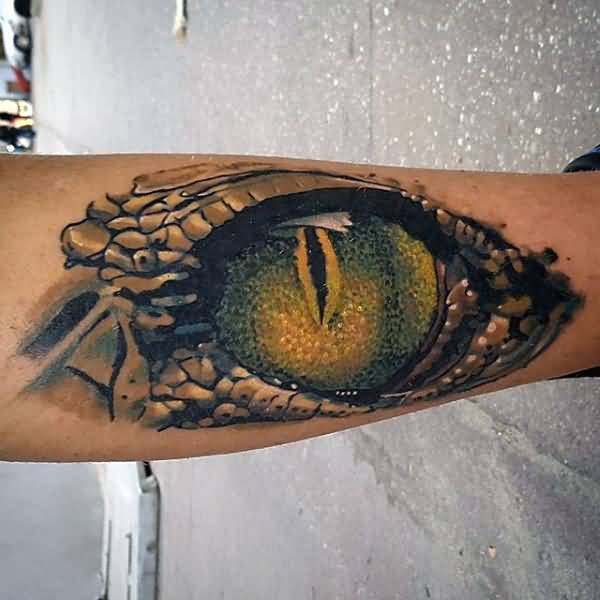 Real And Nice Design For Reptile Snake Eye Tattoos