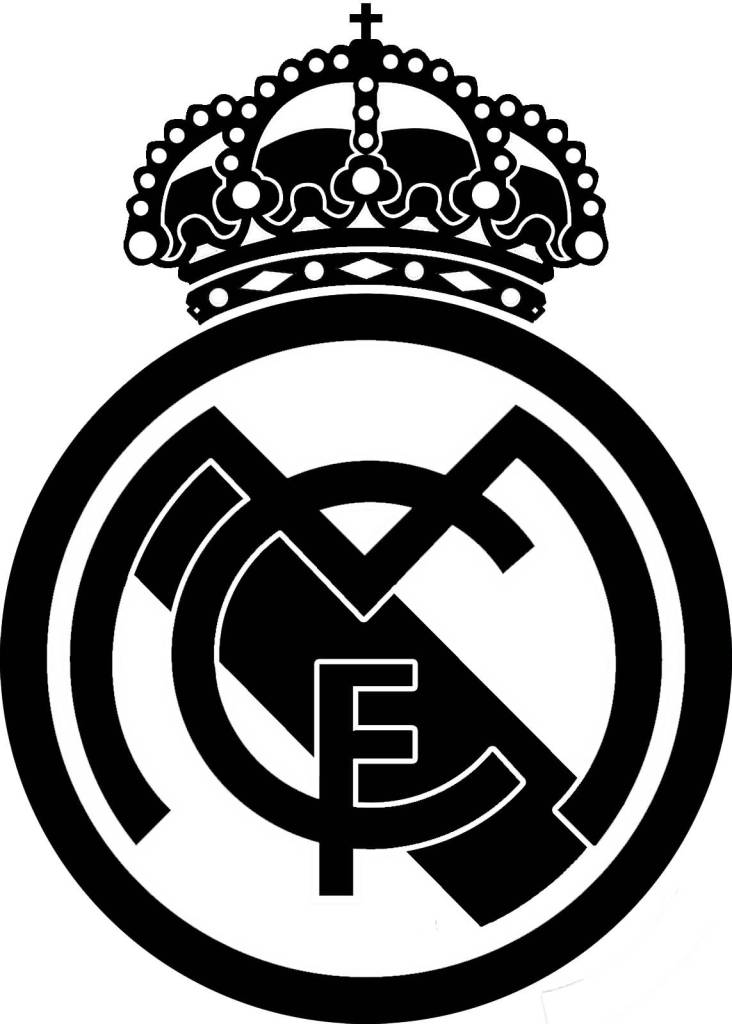 Real Madrid CF Logo Stencil Tattoo