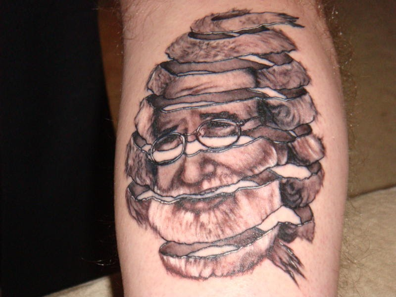 Rind Escher Old Men Face Tattoo