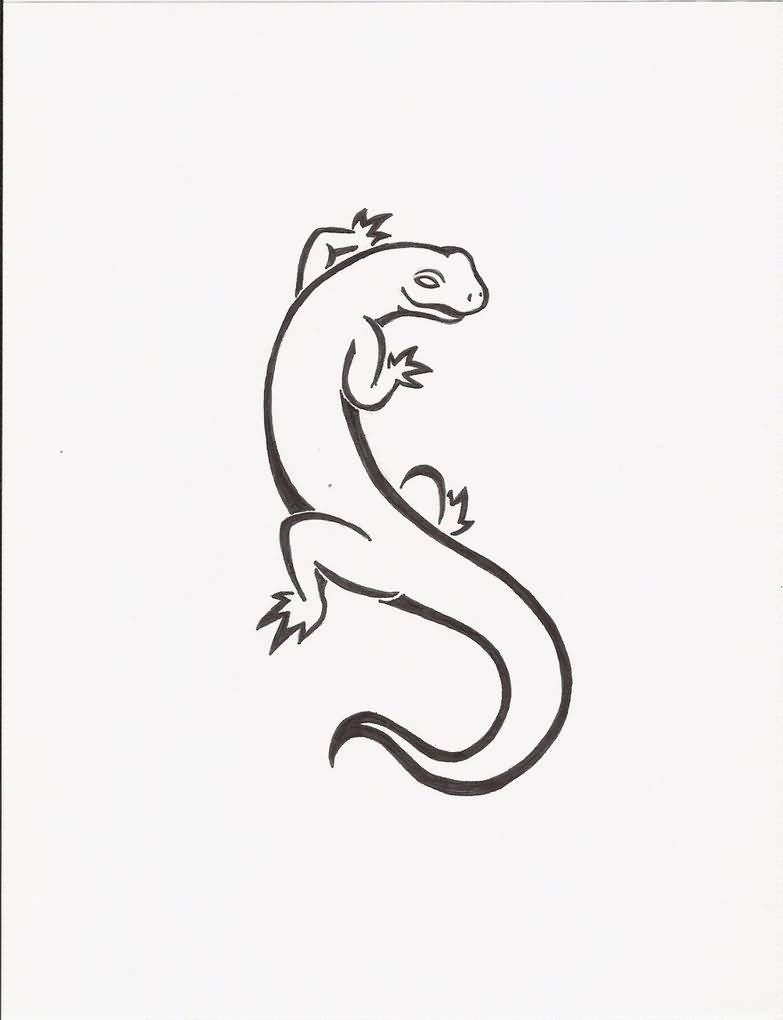 Rorirogers Design A Nice Salamander Tattoo Drawing