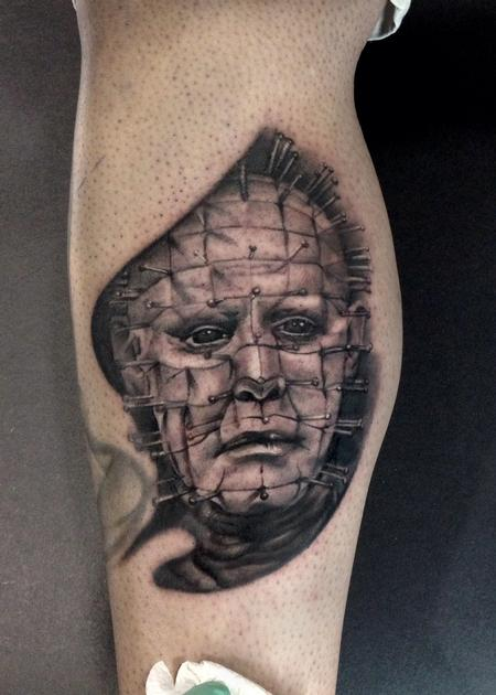 Ryan Mullins Design A Amazing Pinhead Tattoo