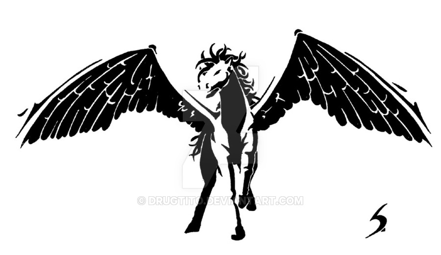 Sagnich Design A Nice Pegasus Tattoo Design