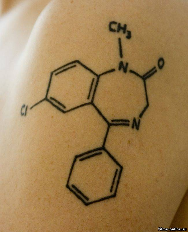 Science Molecule Tattoo Design Idea