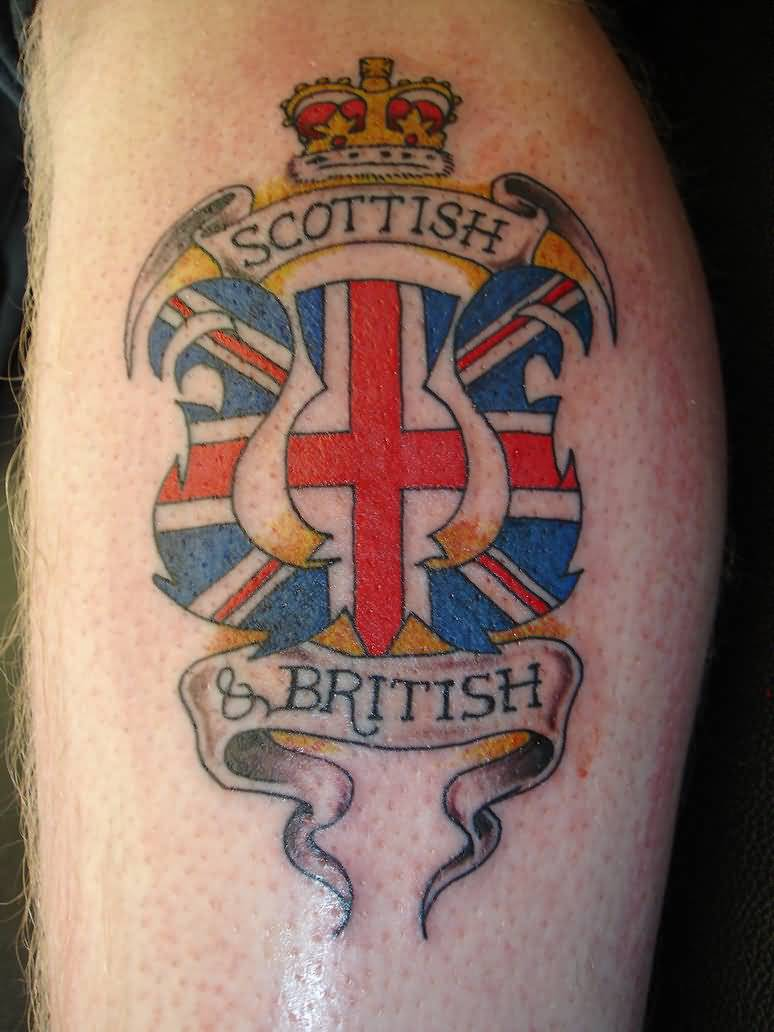 Scottish British Theme Logo Tattoo