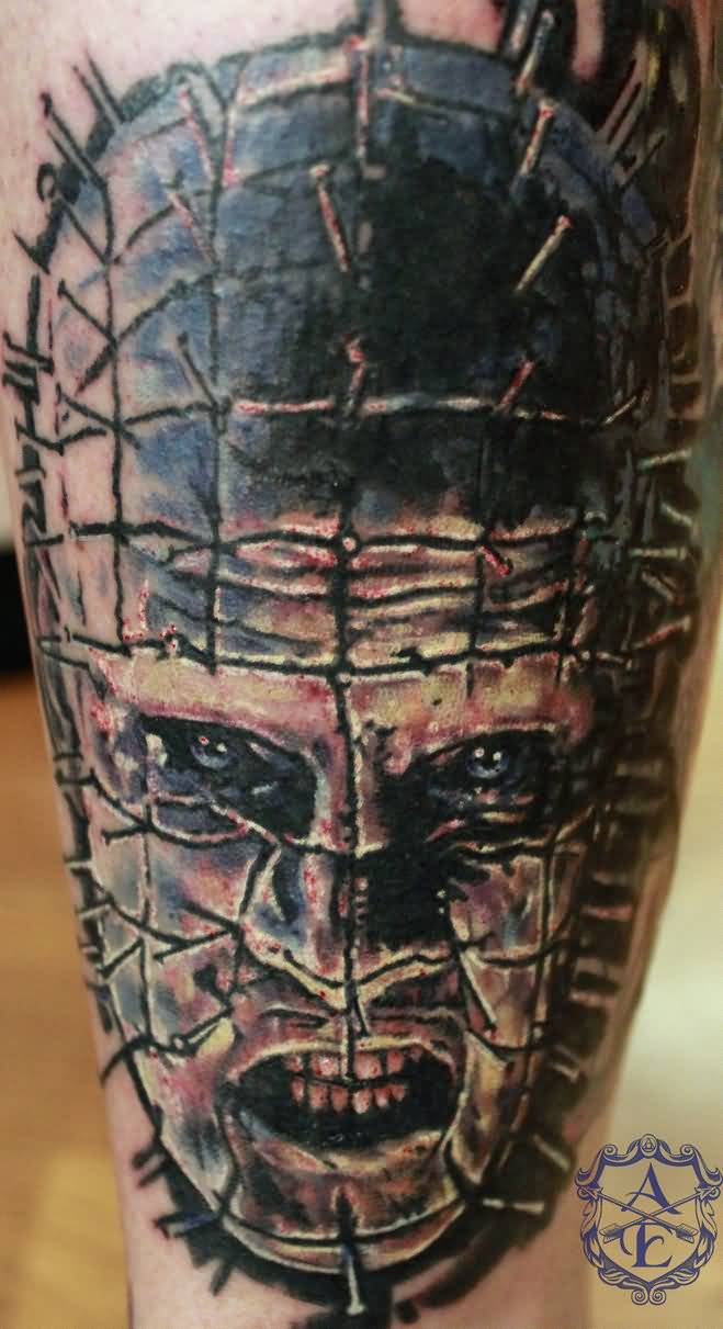 Sean Ambrose Design A Nice Pinhead Face Tattoo Design Idea