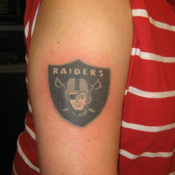 Shoulder Oakland Raiders Tattoo