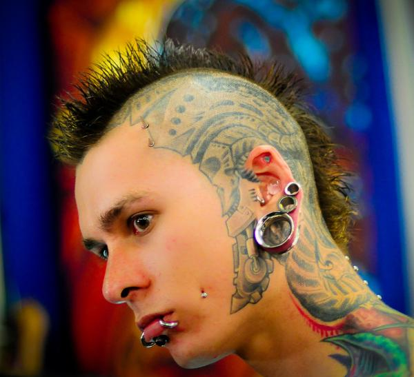 Side Head Amazing Extreme Tattoo For Men