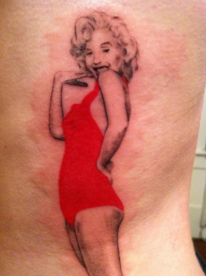 Simple And Nice Marilyn Monroe Tattoo Design Idea