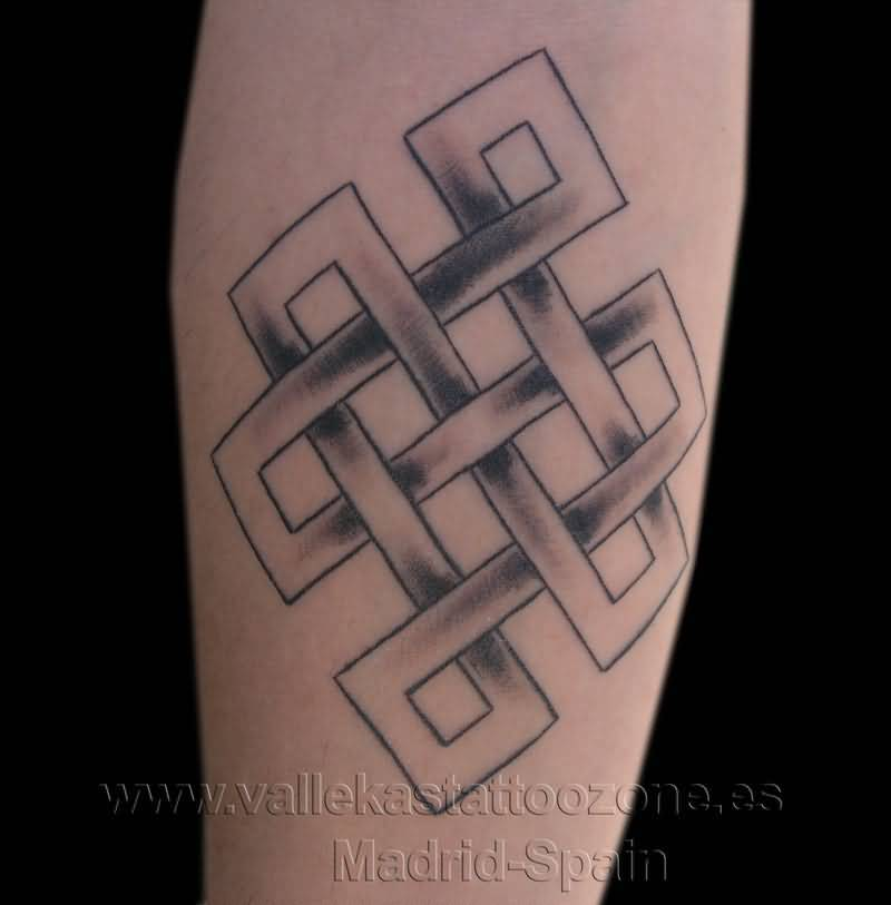 Simple Endless Knot Tattoo Design On Arm