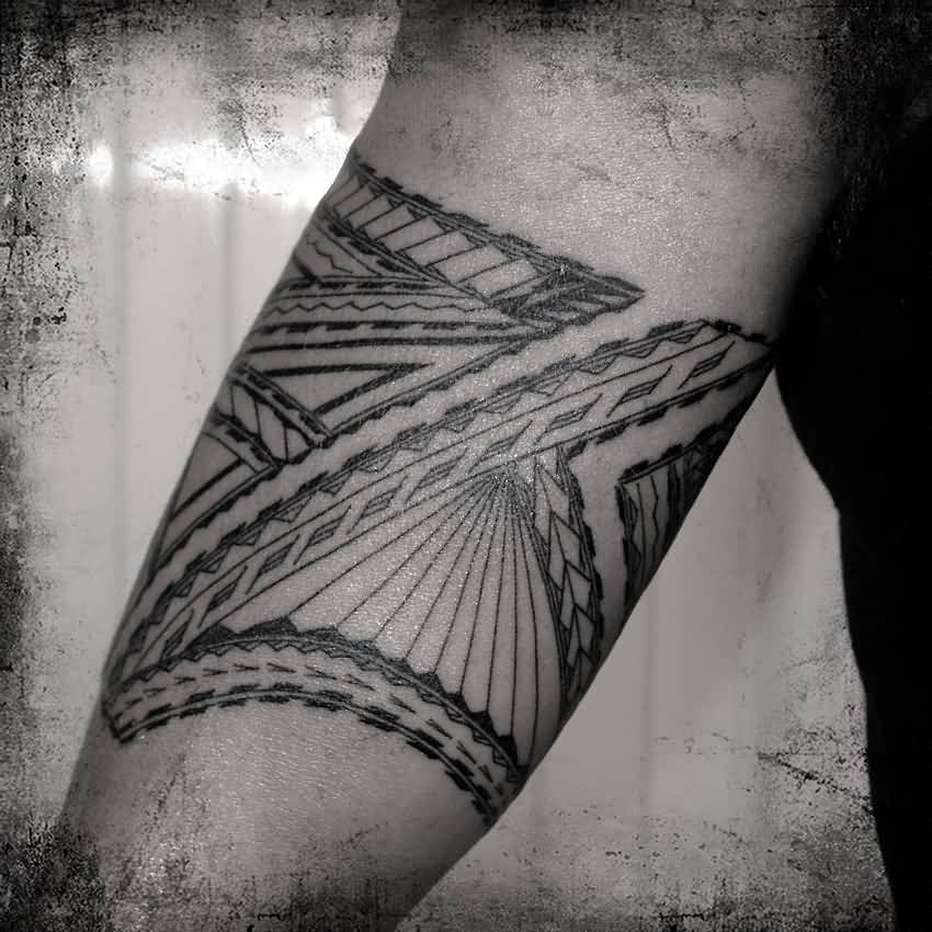 Simple Forearm Samoan Tattoo Idea