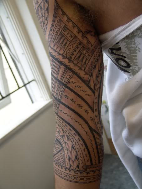 Simple Half Sleeve Amazing Samoan Tattoo