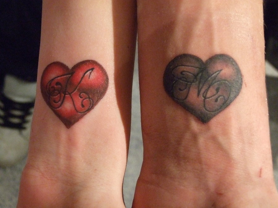 Simple Love Heart Tattoo