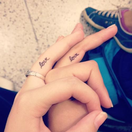 Simple Love Text Tattoo On Wrist