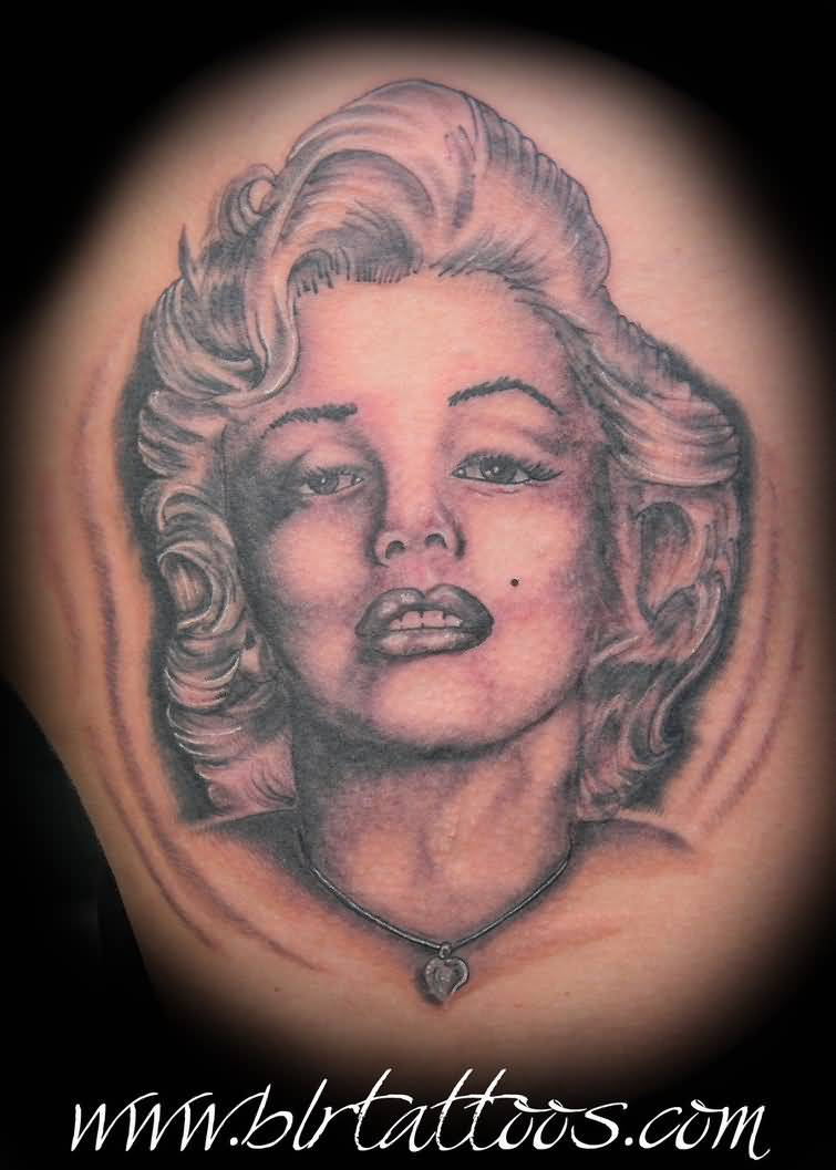 Simple Marilyn Monroe Face Tattoo