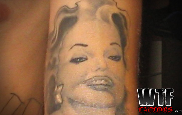 Simple Marilyn Monroe Tattoo Design On Sleeve