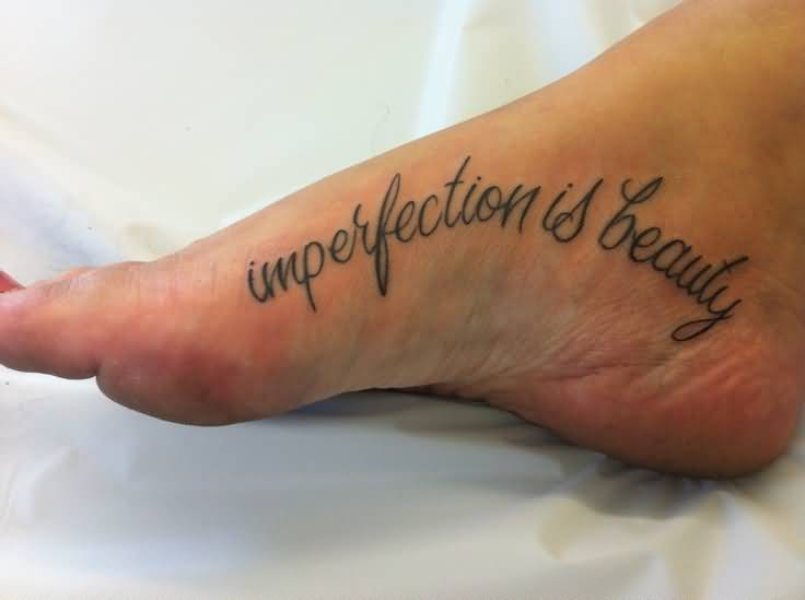 Simple Marilyn Monroe Text Tattoo On Girl Foot