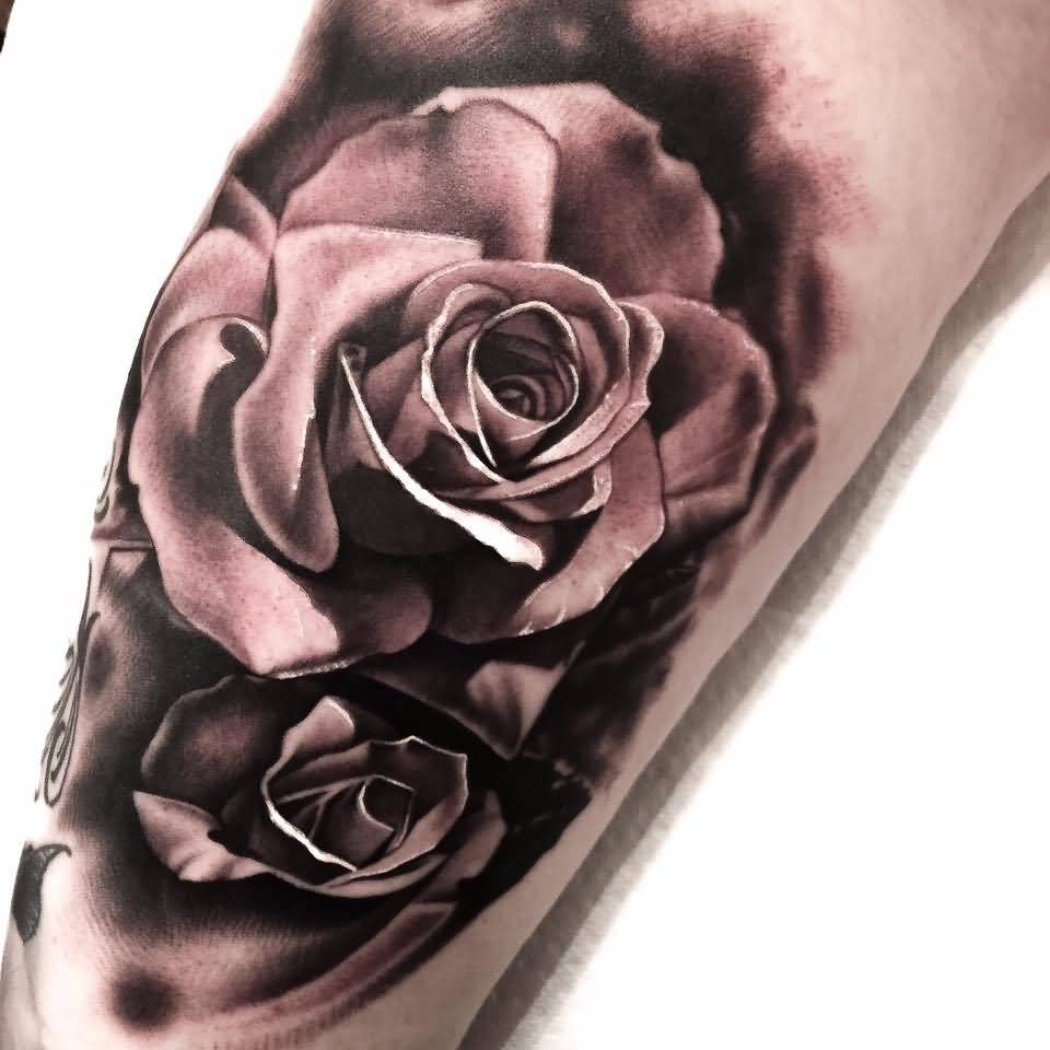 Simple Nice One Rose Tattoo Design By Levi Barnett