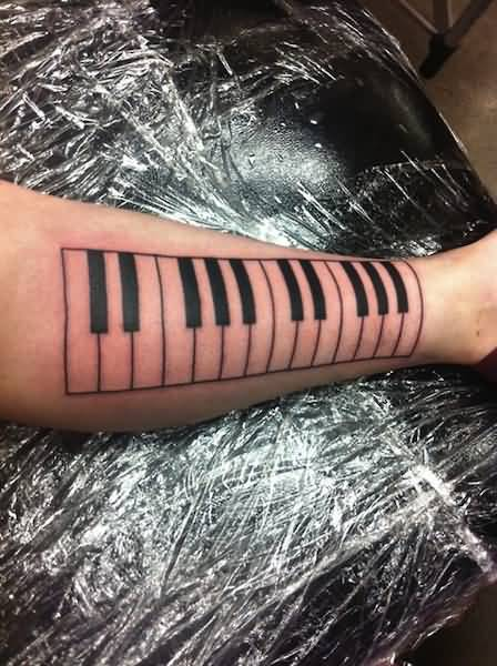 Simple Piano Keys Tattoo Design Idea