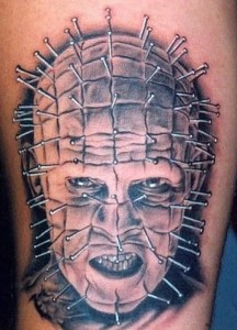 Simple Pinhead Tattoo Design Idea