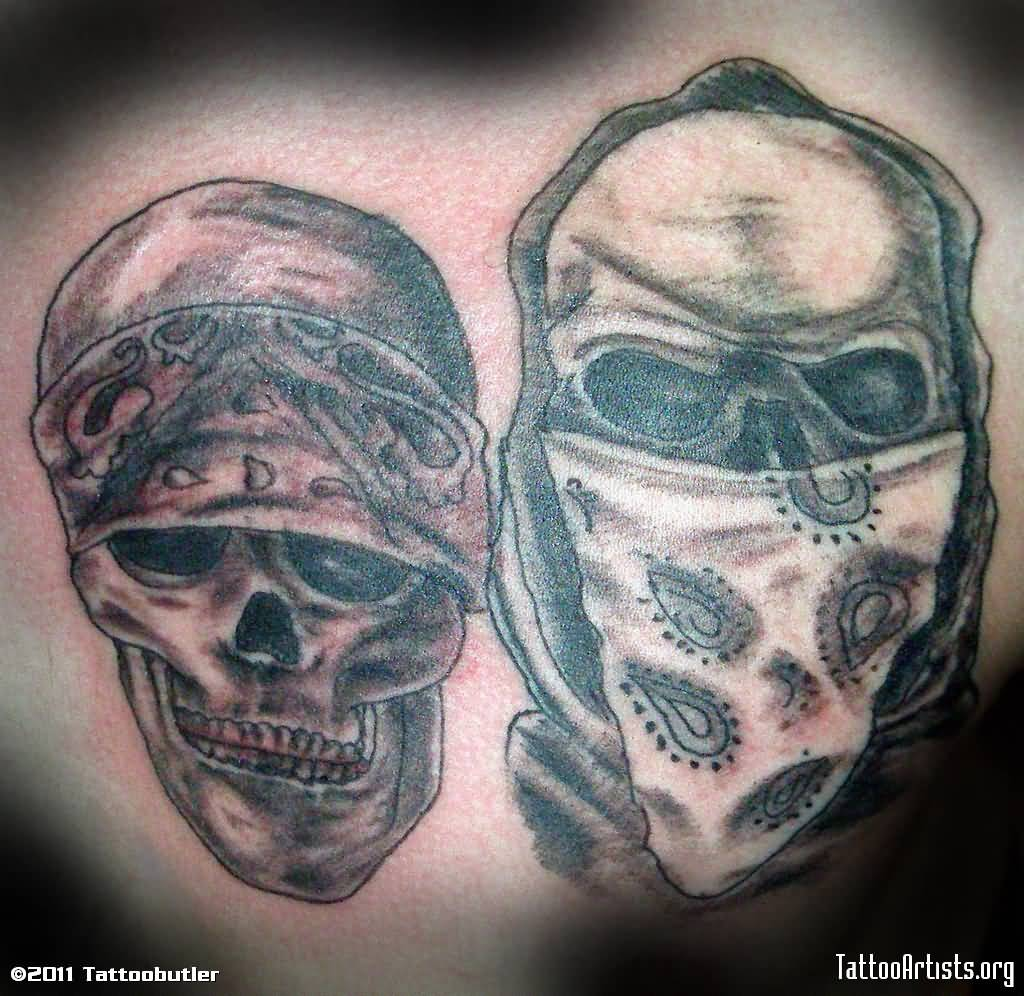 Skull Gangsta Tattoo