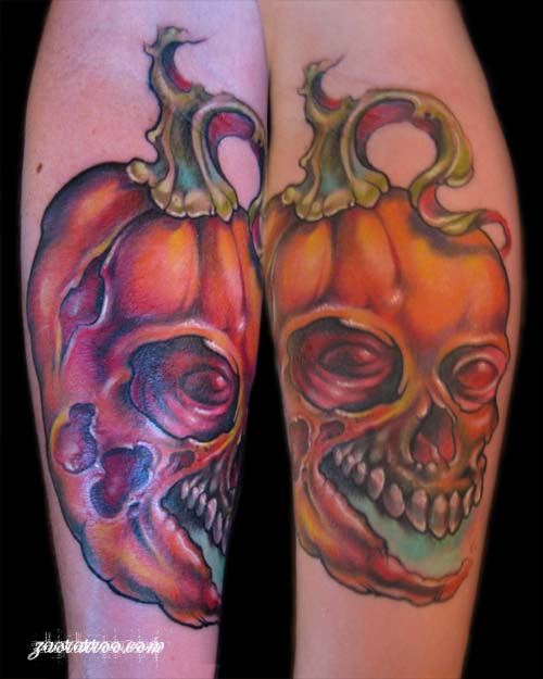 Skull Lantern Tattoo Design