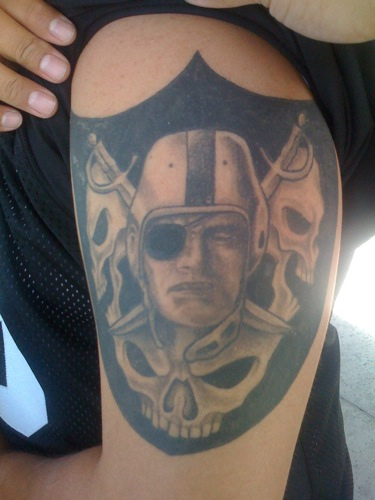 Skull Oakland Raiders Logo Tattoo