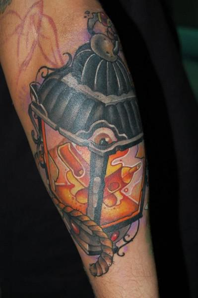 Small Rope Lantern Tattoo Design