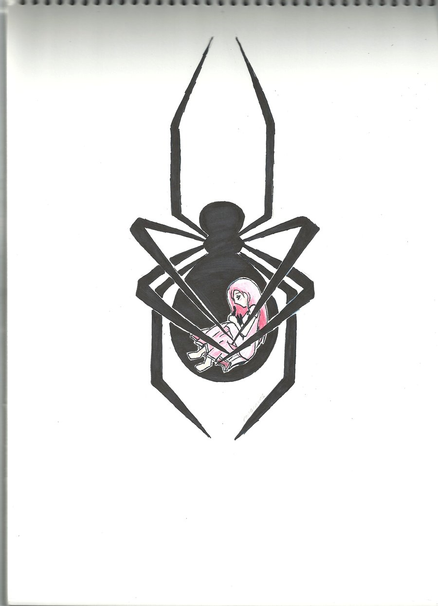 Sweet Girl Ink Black Widow Tattoo Stencil