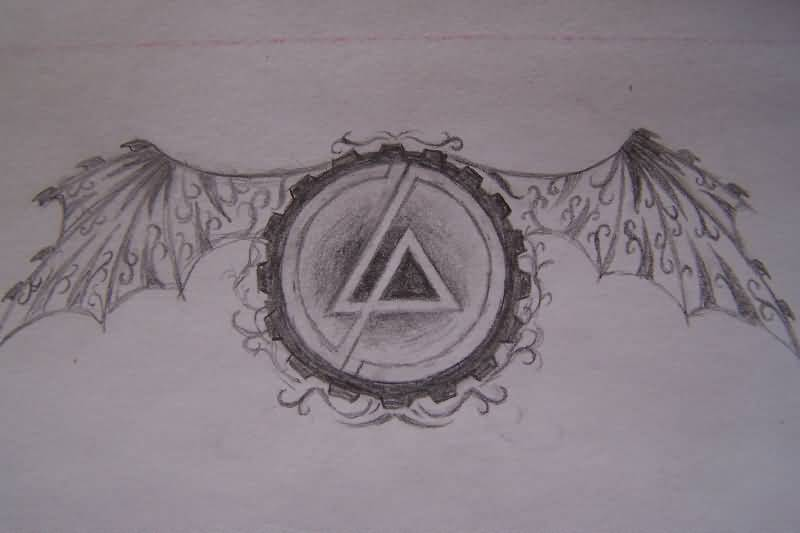 Traditional Old Linkin Park Symbol Tattoo