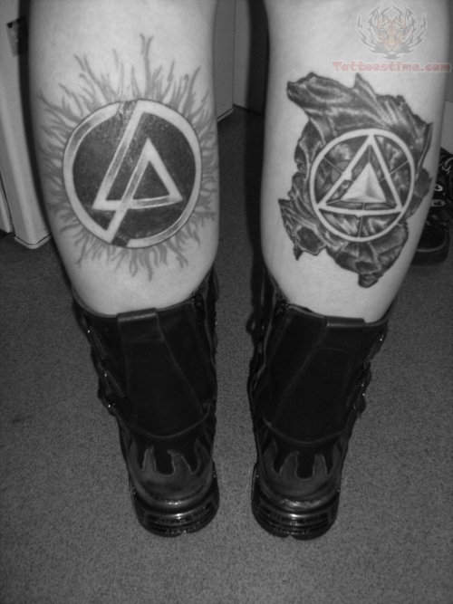 Triangle With Amazing Linkin Park Symbol Tattoo