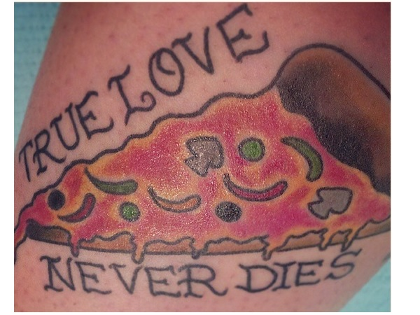 True Love Never Dies Pizza Tattoo