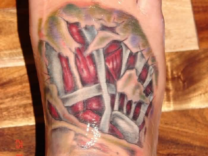 Ultimate 3d Muscles Tattoo Of Bones