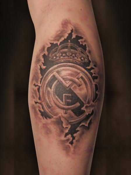 Ultimate Cool Ripped Skin Real Madrid Tattoo Of Logo