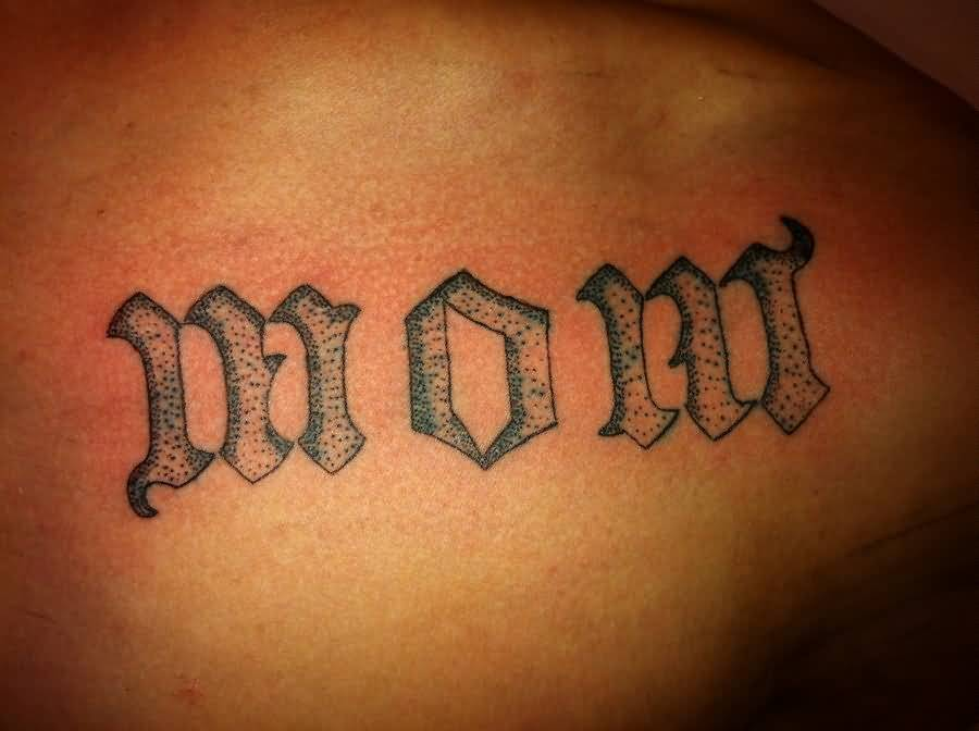 Unique Dot Words Amazing Mom Text Tattoo