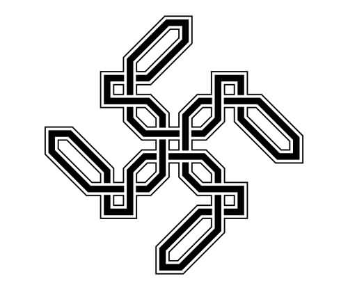 Unique Style Endless Knot Tattoo Sketch