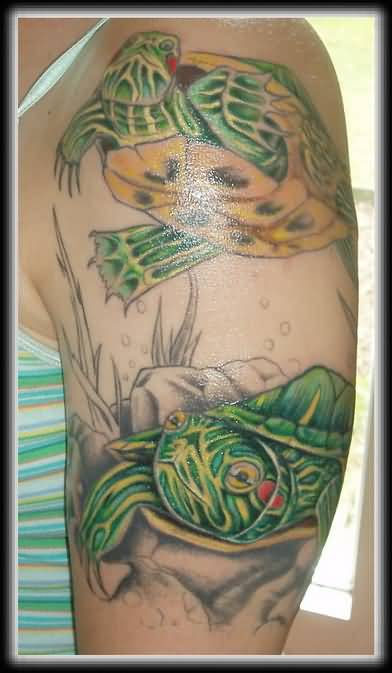 Upper Sleeve Reptile Turtle Tattoo