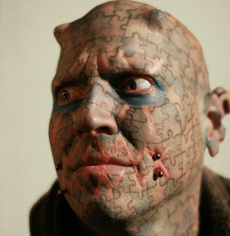 Vampire Men Show Full Face Puzzle Extreme Tattoo