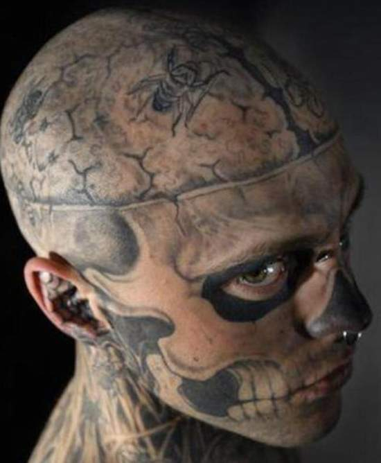 Weird Extreme Tattoo For Men