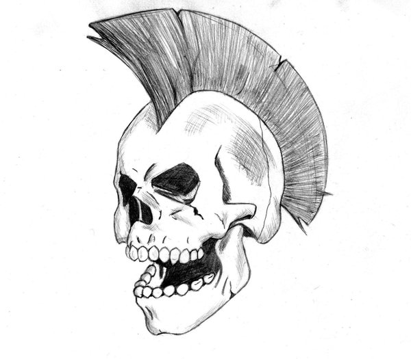Wicked Works Design A Amazing And Nice Punk Skull Tattoo
