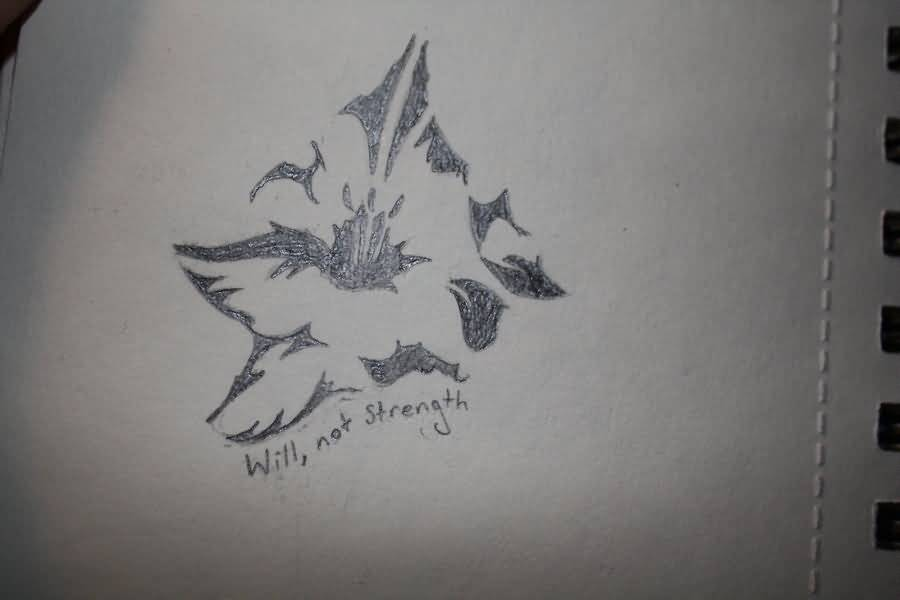 Will Not Strength Gladiolus Grey Ink Gladiolus Flower Tattoo Sketch