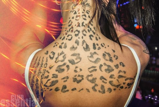 Women Show Scarification Dots Tattoo Idea On Back
