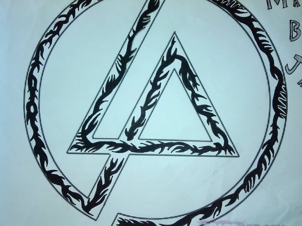 Wonderful And Classy Large Linkin Park Symbol Tattoo