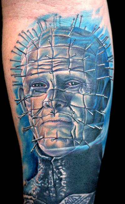 Wonderful And Classy Pinhead Tattoo Design Idea