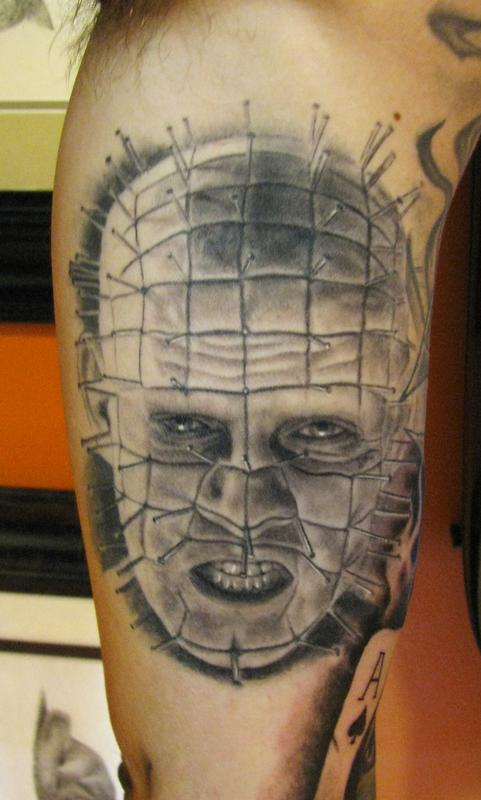 Wonderful And Classy Pinhead Tattoo Design