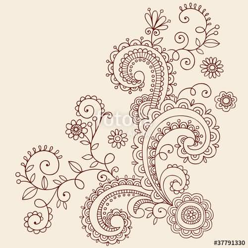 Wonderful And Simple Paisley Pattern Tattoo Design Idea