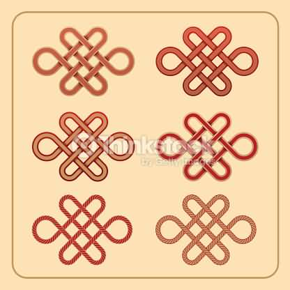 Wonderful Endless Knot Tattoo Design Idea On Paper