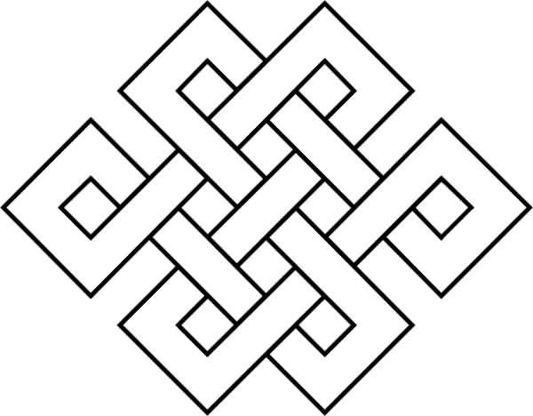 Wonderful Endless Knot Tattoo Stencil
