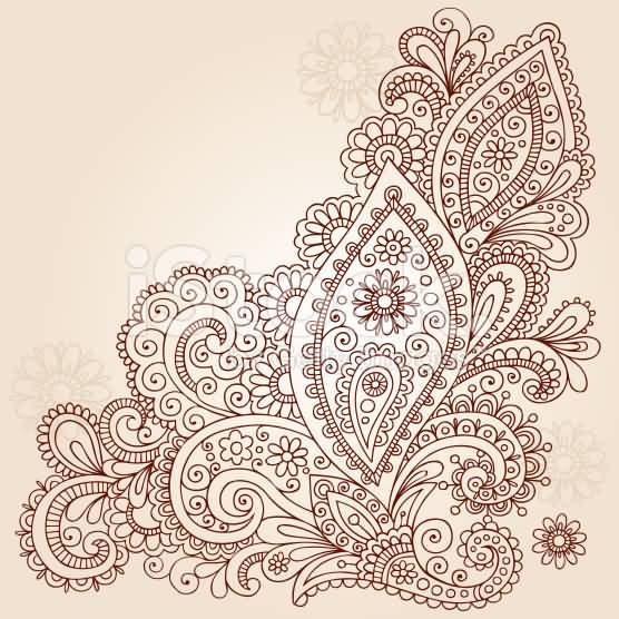 Wonderful Paisley Pattern Tattoo Design Idea