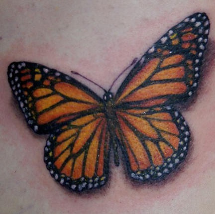 Wonderful Simple Monarch Butterfly Tattoo Design For Boy